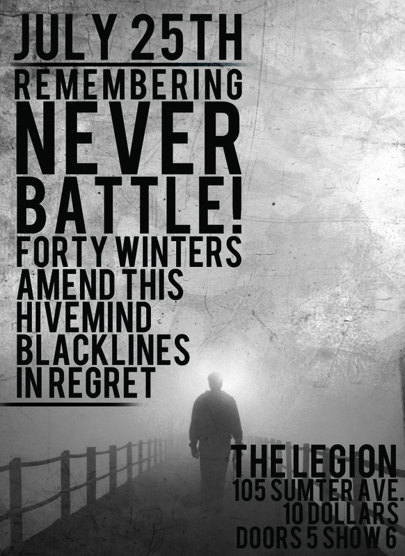 Show Preview: Remembering Never, July 25 at The Legion