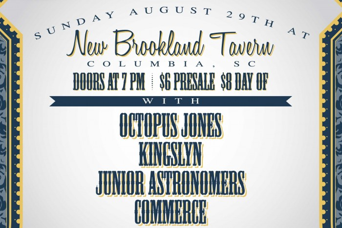 Scene SC Showcase-Octopus Jones, Kingslyn, Junior Astronomers, Commerce