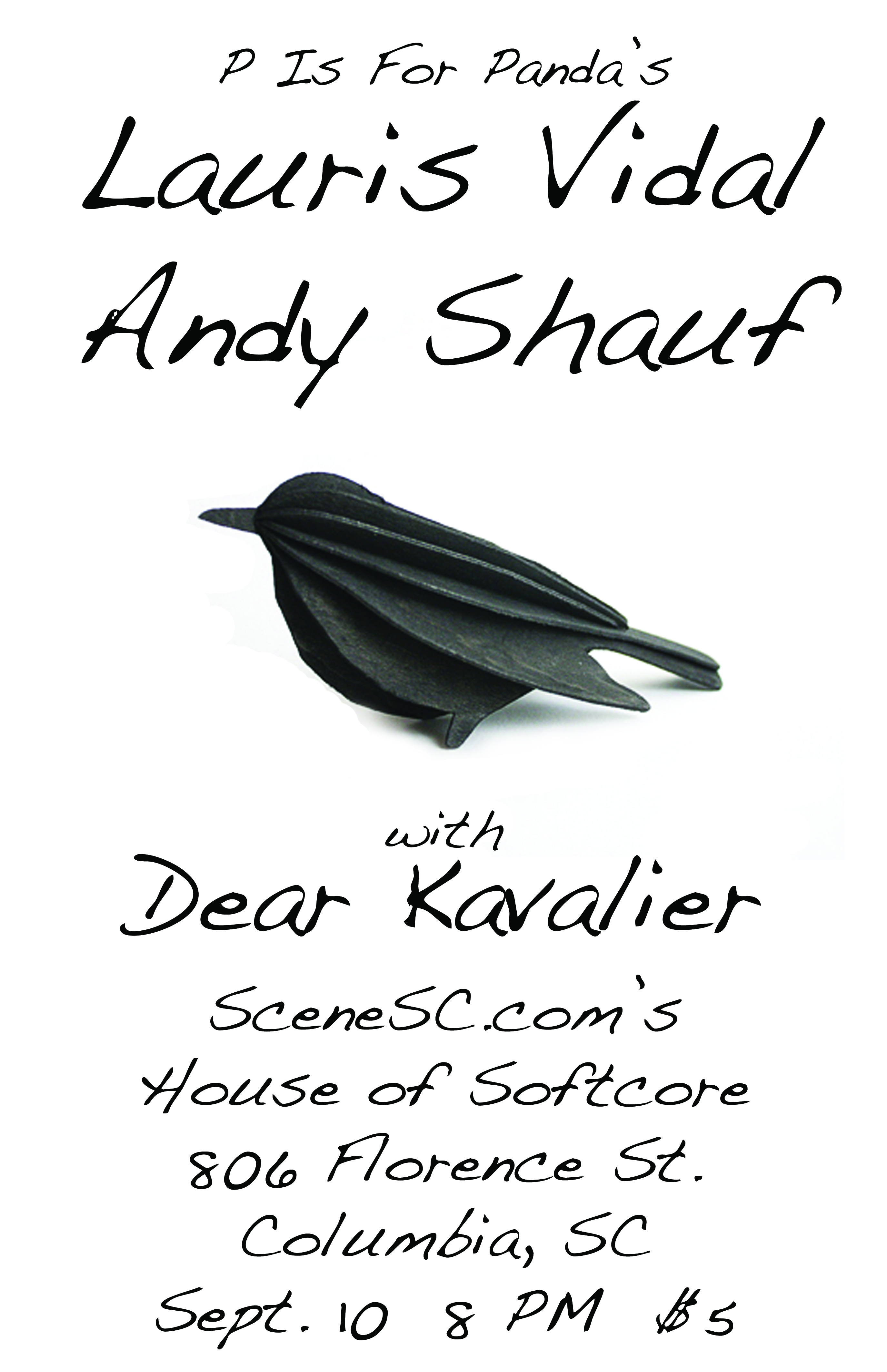 Sept 10: Lauris Vidal, Andy Shauf at House Of Softcore