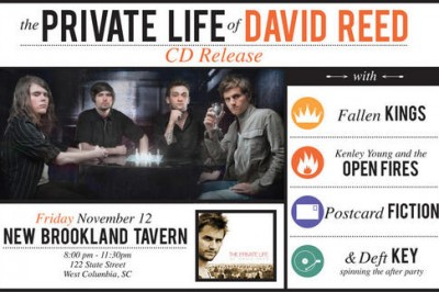 The Private Life of David Reed CD Release This Friday