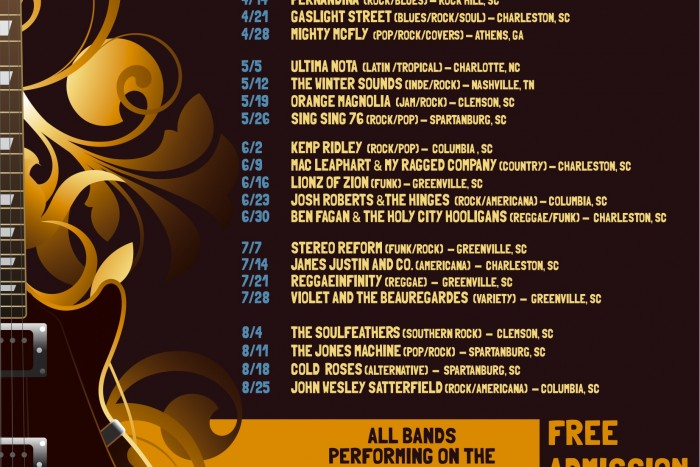 Greenville's Downtown Alive Line-Up