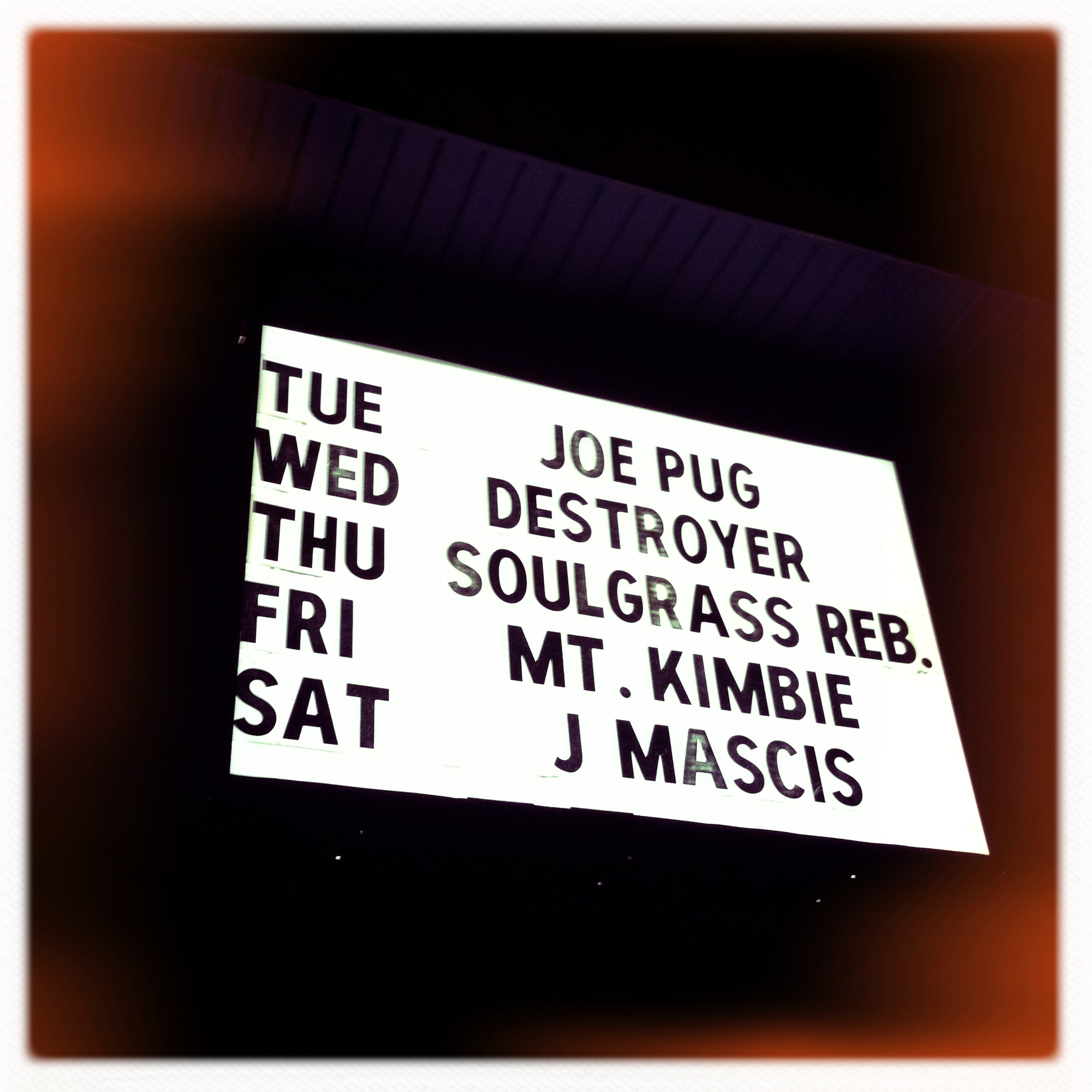 Show Journal: Destroyer in Asheville