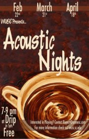 Show Preview: WUSC presents Drip Acoustic Night