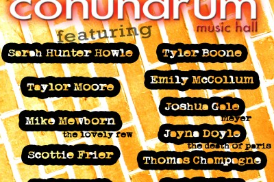 Singer/Songwriter Night at Conundrum Music Hall