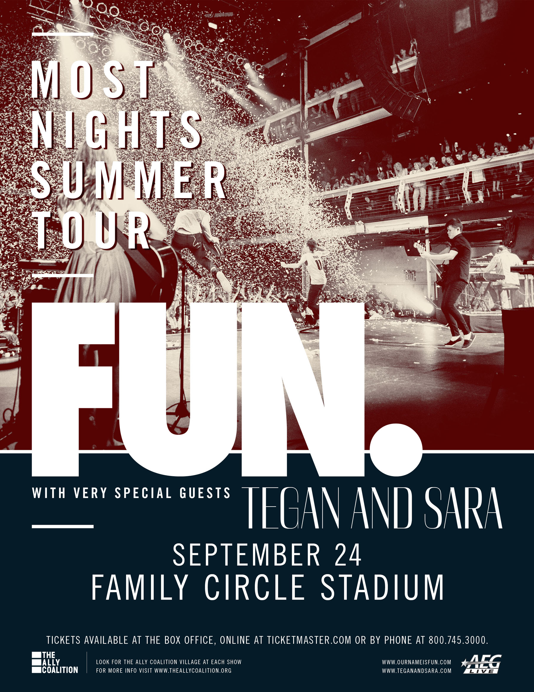 [ETW] fun. and Tegan and Sara at Family Circle Stadium