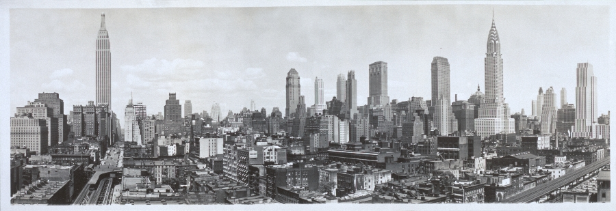 new york city skyline. You could the New York City
